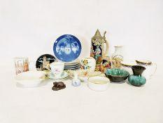 Large collection of ceramics, collectors plates, etcincluding Royal Albert, Royal Copenhagen,