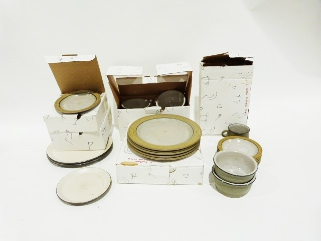 Part stoneware dinner service, cream with brown rim but packed in the wrong Villeroy & Boch boxes - Image 2 of 3