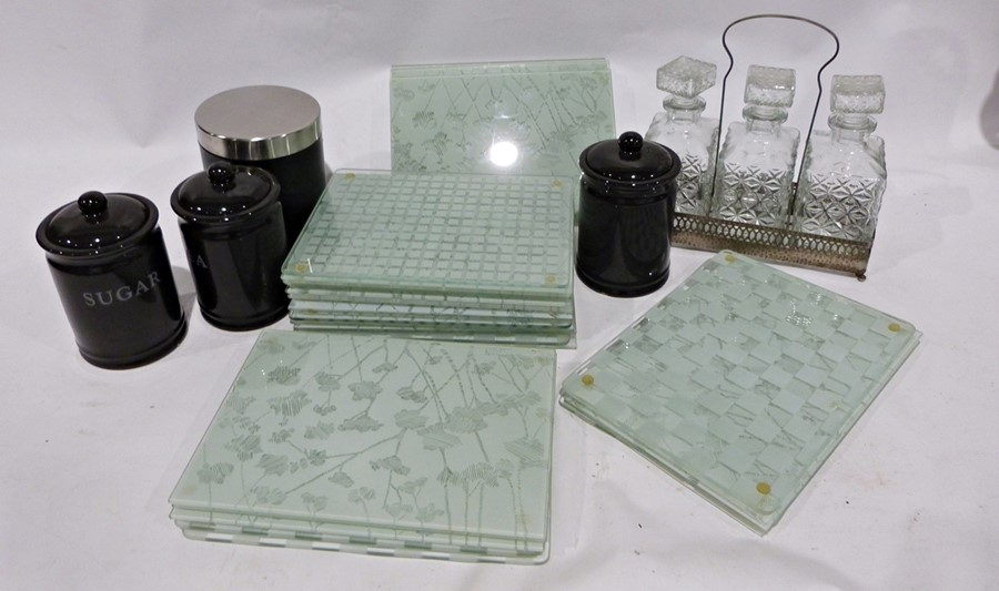 Quantity of assorted glassware to include water jugs, decanters, tumblers, bowls, a set of three - Image 4 of 5