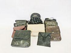 Two boxes of various textilesto include scarves, handbags, etc
