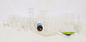 Two boxes of assorted cut glass items