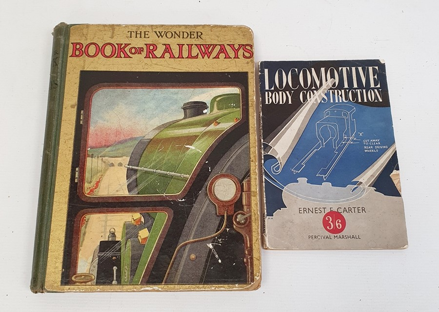 Ernest Carter 'Locomotive Body Construction' 1949, 'The Wonder Book of Railways', 8th edition and