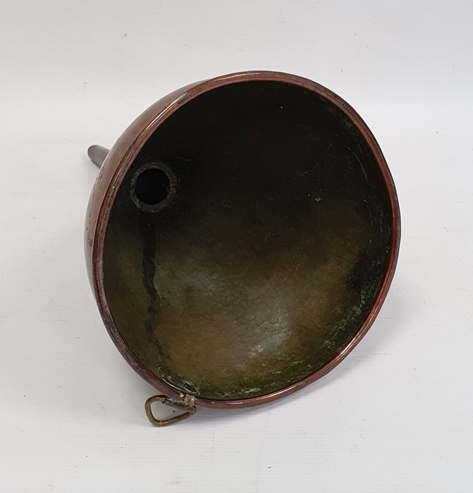 Large copper four pint funnel, 33cm high - Image 2 of 2