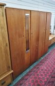 Mid century design bedroom suite comprising large two-door wardrobe, narrow two-door wardrobe and