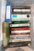 Quantity of assorted volumes to include poetry, novels, cookery, militaria, philosophy, biography,