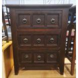Modern chest of three drawers, 58.5cm x 72cm