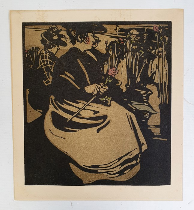William Nicholson The title page and 12 coloured lithographs from London Types 1898, unframed - Image 4 of 4