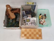 Wooden model plane, a quantity of plastic model soldiersand various other items Condition Report