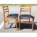 Set of four mid century modern ladderback beech-framed boardroom chairs(4)