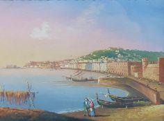 Three watercolours of Italian scenes in the 18th century Grand Tour style, each 10 x 13cm (3)