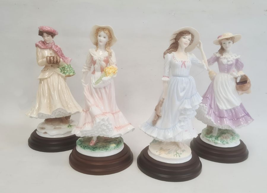 Royal Worcester 'The Four Seasons' figurinesto include 'Winter', 'Spring', 'Summer' and 'Autumn' (