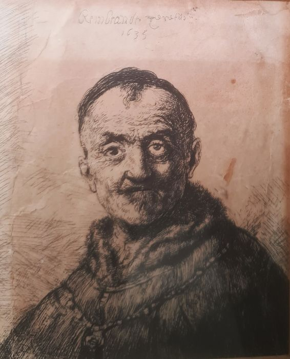After Rembrandt van Rijn (Dutch - 1606-1669) Etching The First Oriental Head, signed and dated