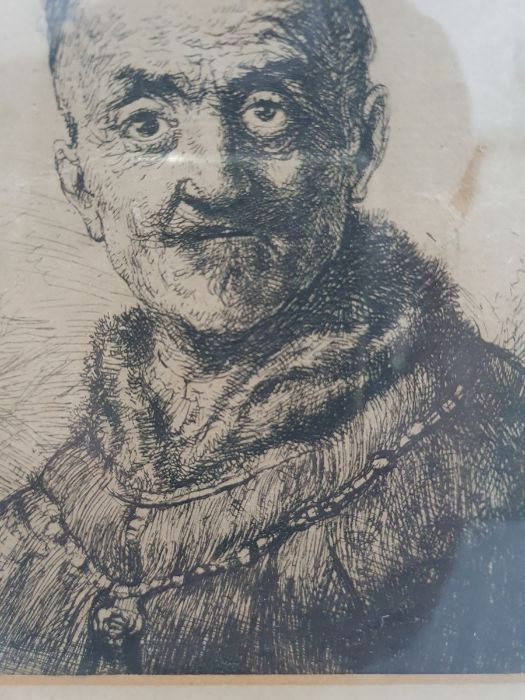 After Rembrandt van Rijn (Dutch - 1606-1669) Etching The First Oriental Head, signed and dated - Image 8 of 16