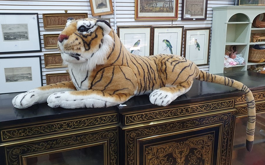 Large soft toy of a tiger