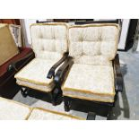 Two seat sofa and two single chairs (3)