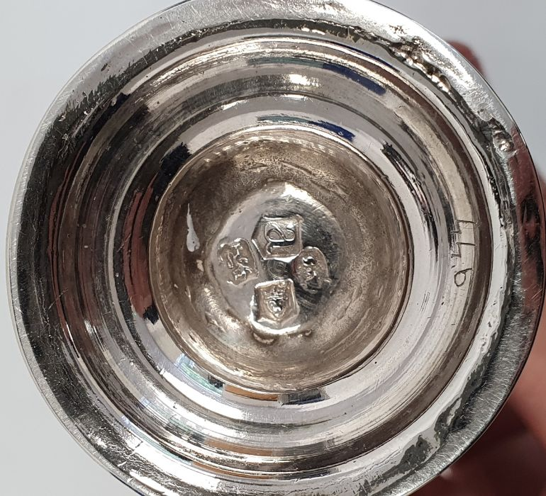 George II silver casterby Samuel Wood, London 1736 of baluster form with pierced cover and later - Image 3 of 13