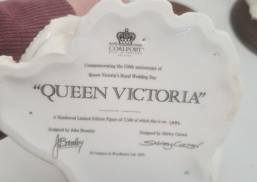 Three Coalport Royal Bridesto include 'Queen Victoria', 'Queen Mary' and 'Princess Alexandra' (with - Image 2 of 4