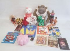 Large collection of toys to include dolls, teddy bears, books and star wars toys