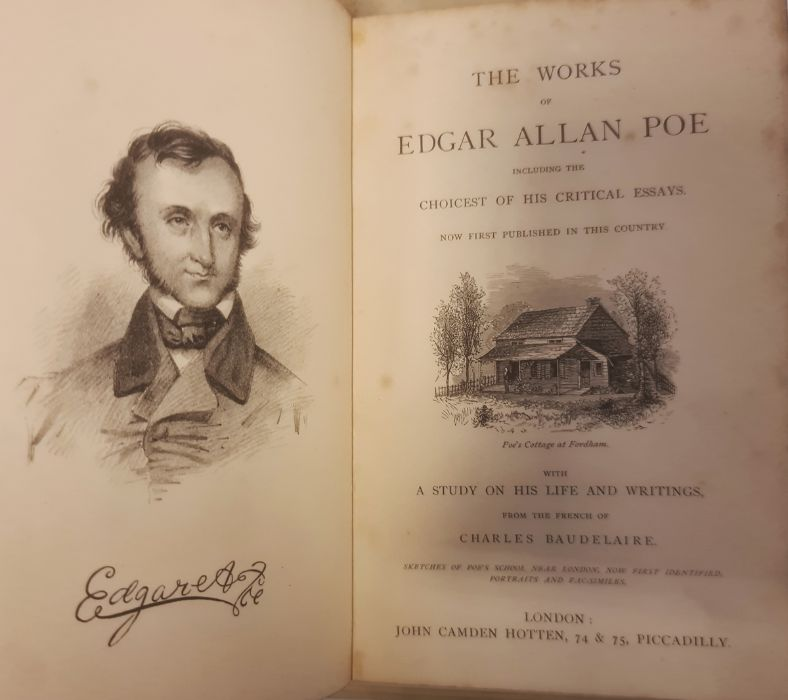 FINE BINDINGS The works of Edgar Allan Poe, Including the choicest of his critical essays, - Image 15 of 15