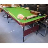 Folding pool/snooker table, 180cm long
