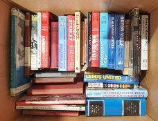 Quantity of books to include various subjects, football, militaria, art, topography, etc. (3 boxes)