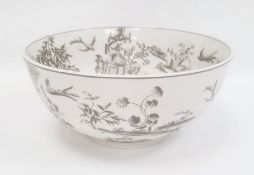 Large modern bowl by India Jane decorated with pagodas, trees etc. 30cm diameter