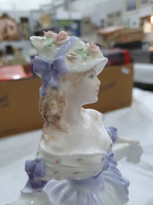 Collection of six Coalport Cries of London figurines to include 'The Flower Seller', 'Oranges and - Image 24 of 29