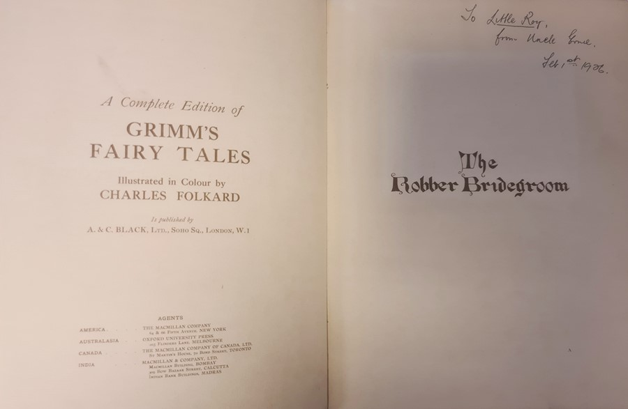 """Owen H S ( ills) """" The Robber Bridegroom,A Fairy Tale from the Brothers Grimm"""" A & C Black 1922, - Image 13 of 29"""