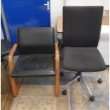 Office swivel chairand twofurther office chairs(3)