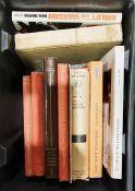 Quantity of assorted volumesto include history, militaria, politics, Polish history, etc (5 boxes)