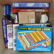 Quantity of assorted games including Connect 4, Mastermind, etc