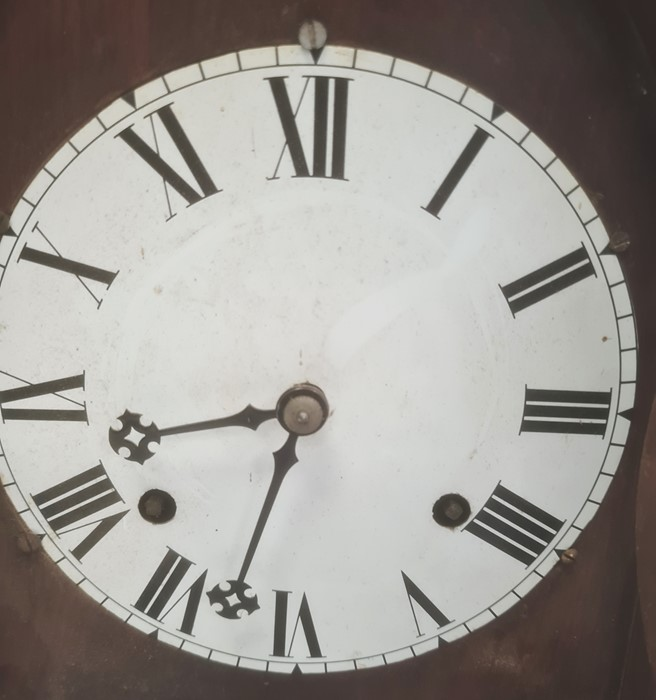 19th century American mantel clockby Chauncey and Jerome, the circular enamel dial with Roman - Image 2 of 3