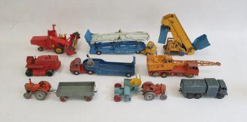 Various vintage model carsto include Corgi Major Toys Massey Ferguson 780 Combine, Dinky Toys
