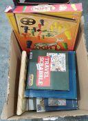 Quantity of board gamesincluding travel Scrabble, Trivial Pursuit, Ludo, etc