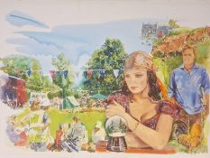 Melvyn Warren-Smith ( illustrator and artist , present day) Book illustrations Oils on paper