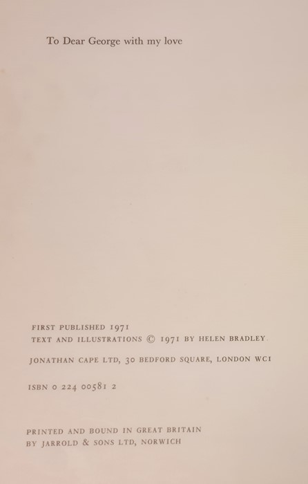 """Bradley Helen """" And Miss Carter wore Pink..."""" Jonathan Cape 1971, ills, pink endpapers, d-j , not - Image 9 of 13"""