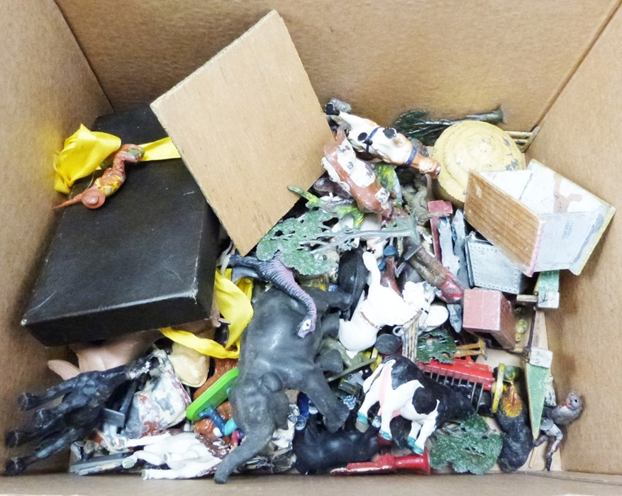 Large quantity of model animals including painted, diecast and plastic, various farm accessories, - Image 4 of 5
