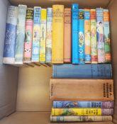 Early 20th Century children's books - Eleanor Brent-Dyer, Angela Brazil, P G Wodehouse ( 2 boxes)