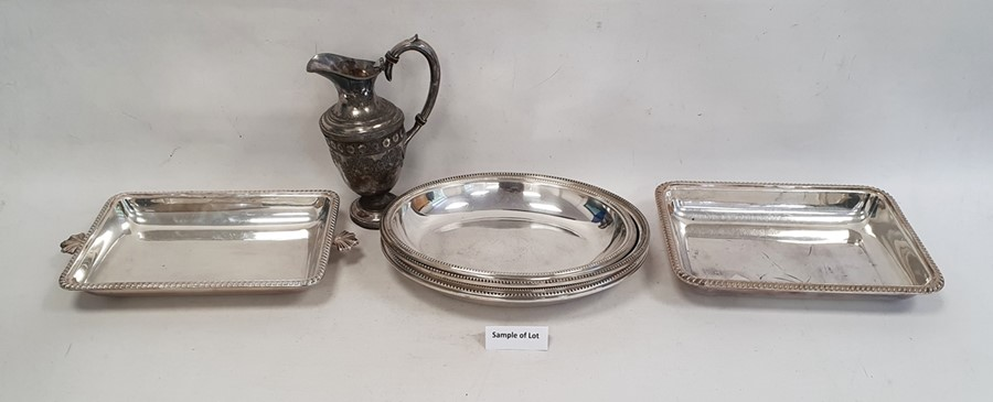 Quantity of silver plated items including vegetable dishes and covers, fish knives and forks, bone-