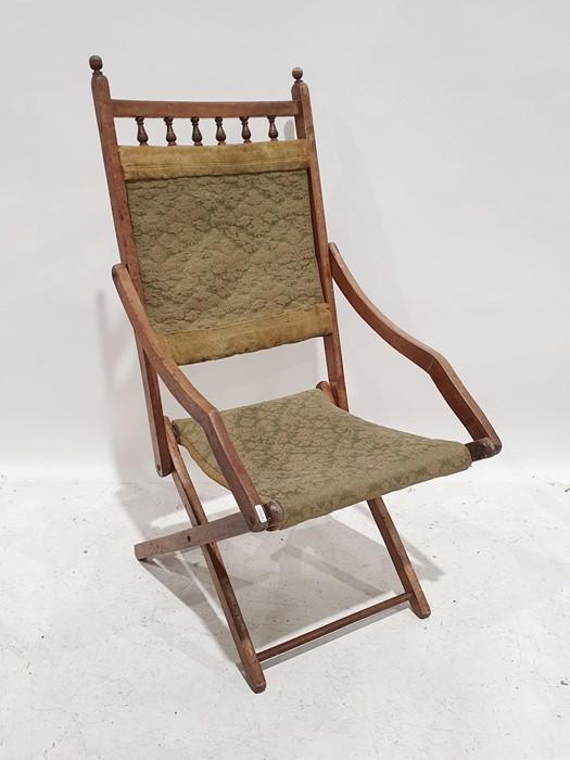 Early 20th century mahogany folding chair