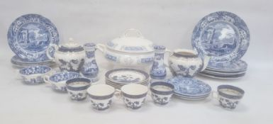 Large two-handled Coalport tureen and cover in the Revelry pattern, a pair of Spode Italian