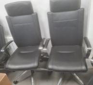 Pair of Dauphin office swivel chairs(2)