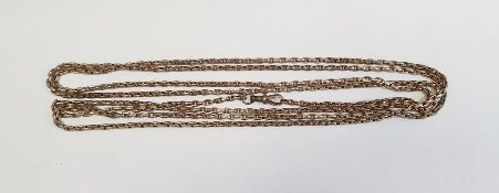Long silver-coloured belcher link guard chain, approx 35g Condition ReportAdditional photos