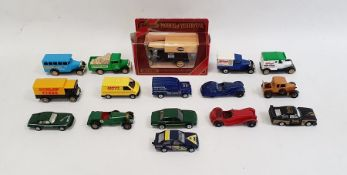 Quantity of diecast models including Corgi Jaguar XJS, Ford Capri 3.0S, Dinky Toys Jaguar,