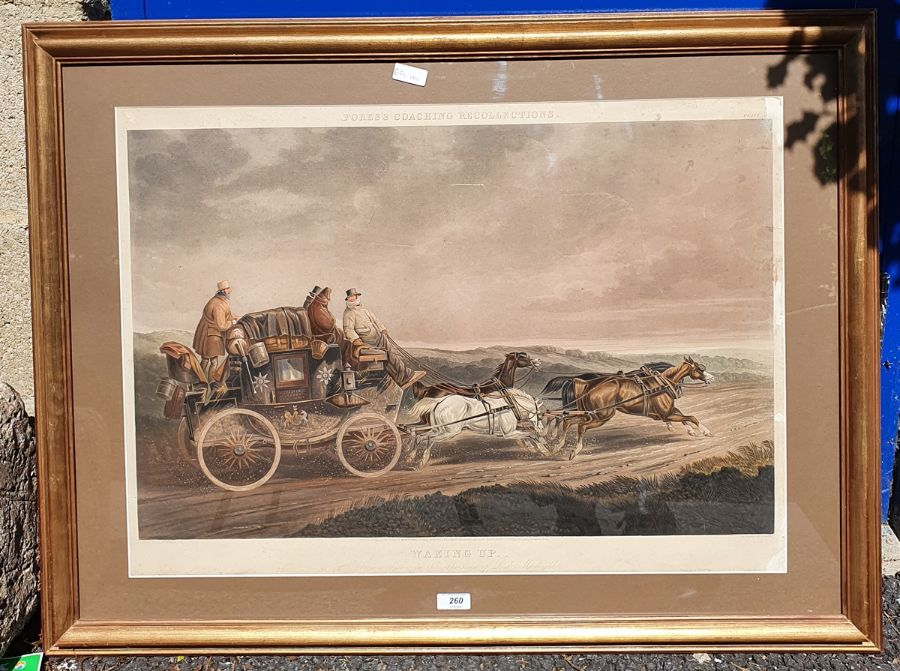 """After C C Henderson 19th century coloured print from Fores's Coaching Recollections """"Waking up"""", - Image 2 of 2"""