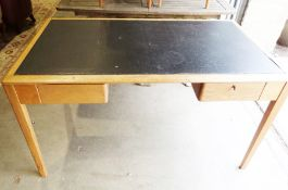 Ex Government pal desk with stowaway legs 'Remploy' design, NATO reference 7110/99/942/5652 and