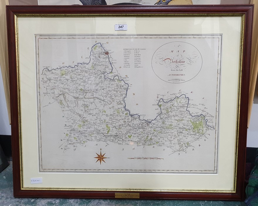 Hand-coloured map of Berkshire published by John Stockdale and engraved by J. Cary, 40 x 53cm - Image 2 of 2