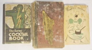 """"""" The Savoy Cocktail Book"""" Constable and Company 1930, numerous ills throughout, some foxing, the"""