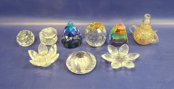 Assorted items of Swarovski, to include paperweights, animals including frog, owl and kingfisher