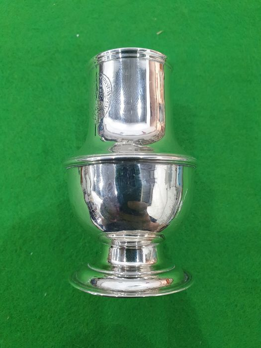 George II silver casterby Samuel Wood, London 1736 of baluster form with pierced cover and later - Image 8 of 13
